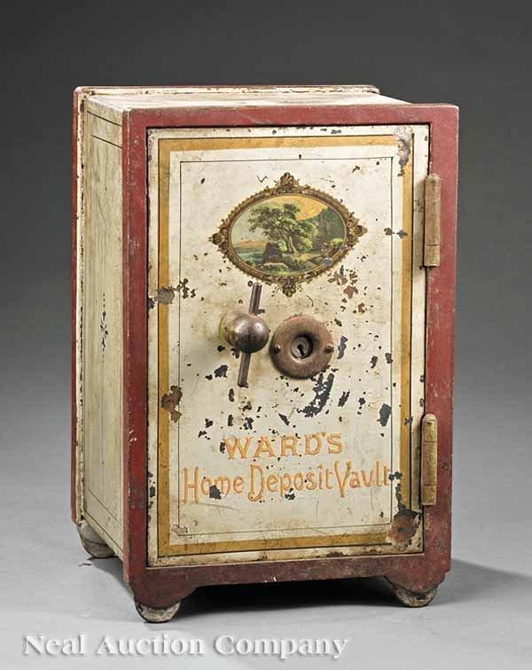 1008: American Diminutive Paint-Decorated Safe