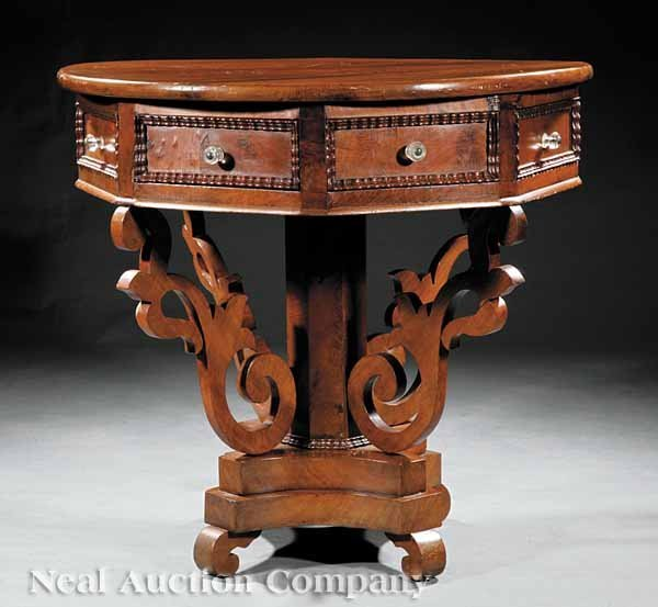 0003: American Carved Walnut Rent Table