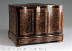 0049 French Marquetry and Burlwood Cave  Lique