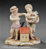 0087: Meissen Porcelain Figural Group