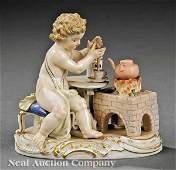 0088: Meissen Porcelain Figure of a Cherub