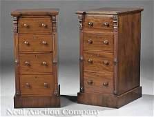 0486: Pair of English Mahogany Bedside Commodes