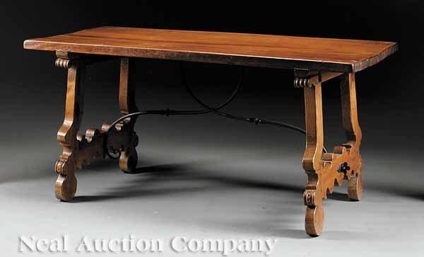 0654: Spanish Walnut Refectory Table