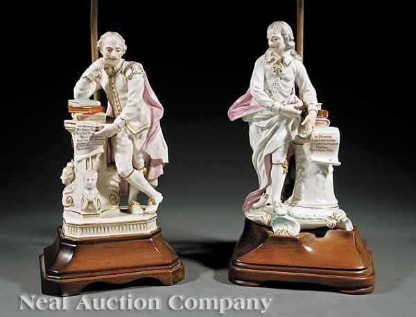 0656: Soft Paste Polychrome and Gilt Porcelain Figures