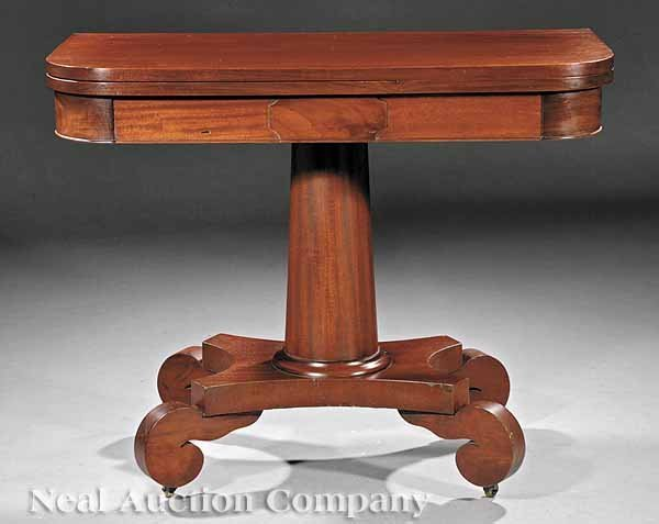 0665: American Late Classical Mahogany Games Table