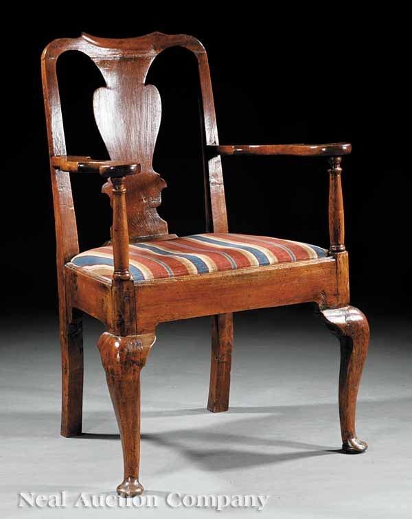 0669: Queen Anne Walnut Armchair