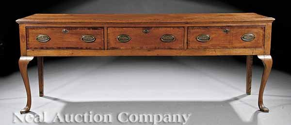 0674: George III Inlaid Oak Welsh Dresser