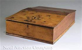 0727 American Inlaid Walnut Double Cutlery Box