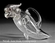 0790 Leuchars  Son Sterling Silver Glass Claret Jug