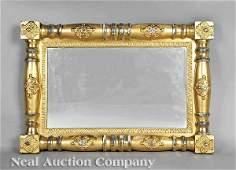 0810 American Classical Revival Gilt Overmantel Mirror