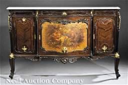 0825 Gilt BronzeMounted Carved Mahogany Buffet