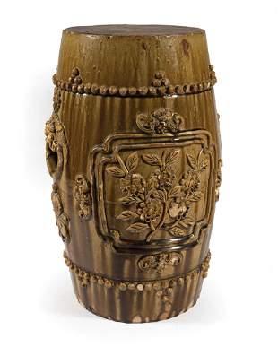 Chinese Glazed Stoneware Garden Seat