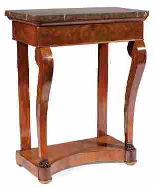 Diminutive Restauration Mahogany Console Table