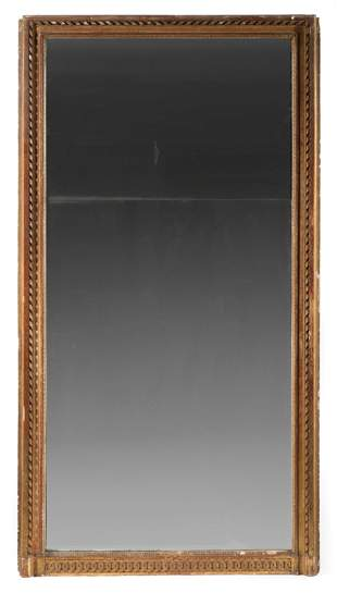 Neoclassical Carved and Gilded Pier Mirror