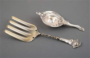 Whiting Sterling Silver Asparagus Server