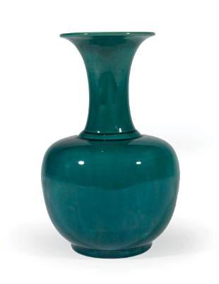 Chinese Turquoise Glazed Porcelain Bottle Vase