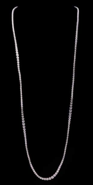 14 kt. White Gold and Diamond Necklace