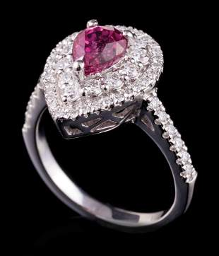Platinum, Ruby and Diamond Ring
