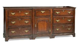 Antique English Oak Dresser Base