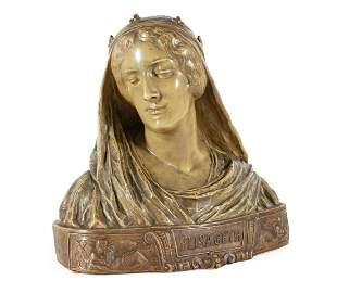 Frederich Goldscheider Ceramic Portrait Bust