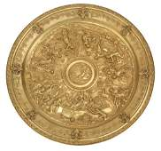 Grand TourStyle Gilt Bronze Charger