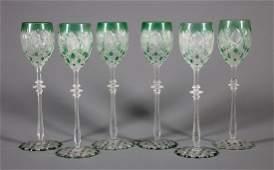 "Baccarat ""Tsar"" Red Wine Glasses"