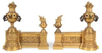 Pair of Napoleon III Gilt Bronze Chenets