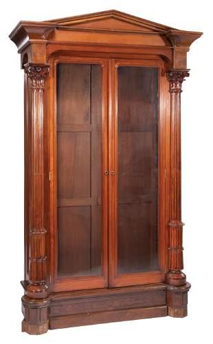 Fine American Carved Mahogany Bookcase