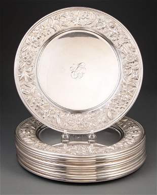 S. Kirk & Son Sterling Silver Repousse Chargers