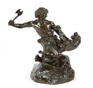 Patinated Bronze Grouping of a Youth