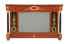 Painted and Parcel Gilt Overmantel Mirror