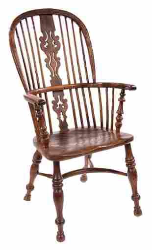 Antique English Elm Windsor Chair