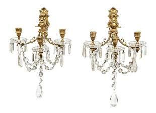 Baccarat Crystal Three-Light Scones