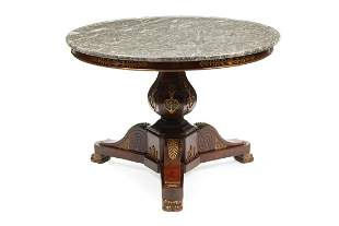 Bronze-Mounted Mahogany Center Table