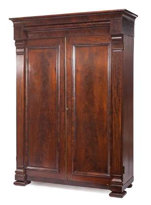 American Late Classical Mahogany Armoire