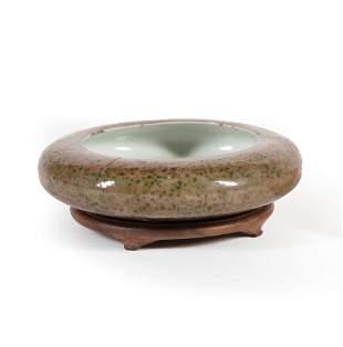 Chinese Peachbloom Glazed Porcelain Brushwasher