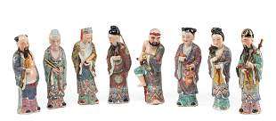Chinese Famille Rose Porcelain Figures