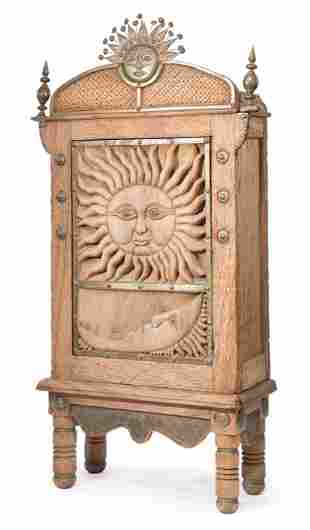 Attributed to Sergio Bustamante Wood Cabinet