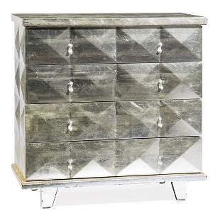 Contemporary Silvered Chest of Drawers