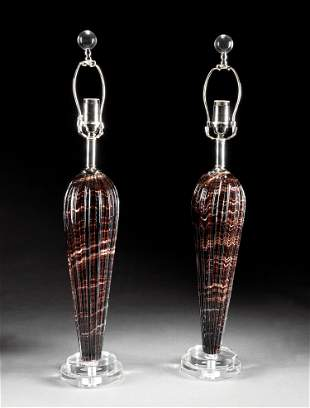 Pair of Contemporary Murano Glass Lamps