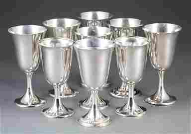 American Sterling Silver Goblets