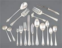 American Sterling Silver Partial Flatware Service