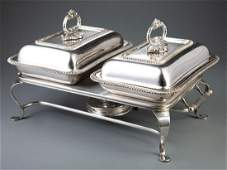 English Silverplate Covered Entrée Dishes