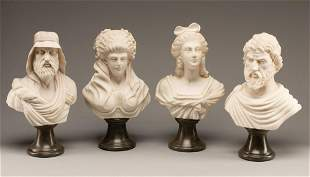 Four Italian Carved Marble Busts