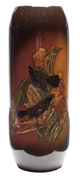 Large Frame Glazed Art Pottery Vase