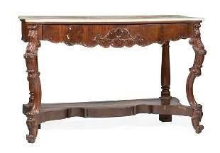 American Rococo Mahogany Console Table