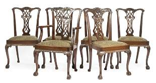 Centennial Chippendale Carved Mahogany Dining Chairs