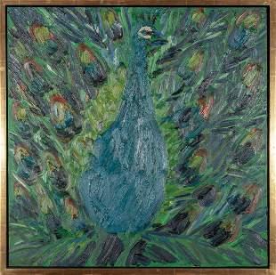 Hunt Slonem Peacock