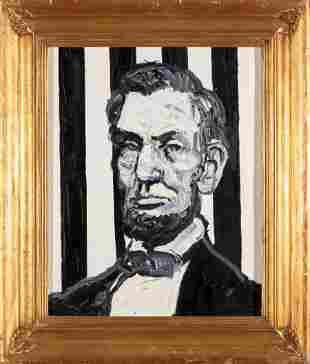 Hunt Slonem Abraham Lincolon