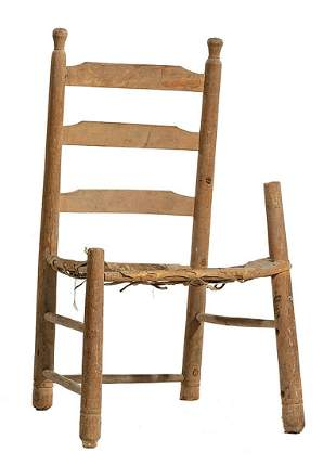 Acadian Cypress Ladder Back Chair